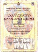 Leggi tutto: Concerto di Musica Sacra  - 1 novembre 2010
