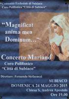 Leggi tutto: Magnificat anima mea Dominum - Concerto mariano 2015